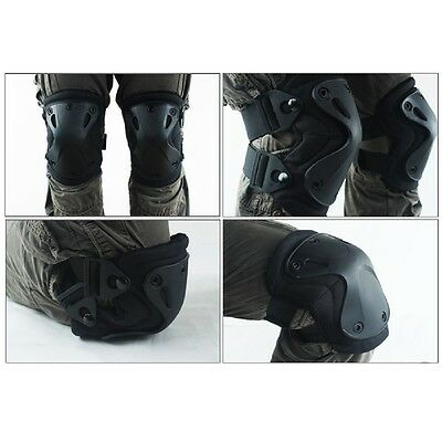 Hot 5Color Airsoft Tactical Knee & Elbow Pads Set Gear  Hunting Shooting Pad