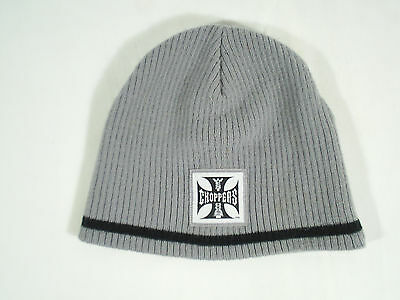 West Coast Choppers Beanie Stocking Hat Black And Gray  Acrylic