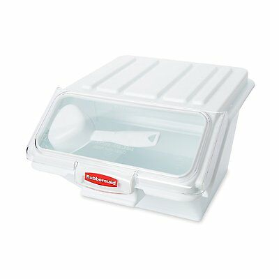 Rubbermaid Commercial ProSave Food Storage Bin with Scoop, White, NEW !!!