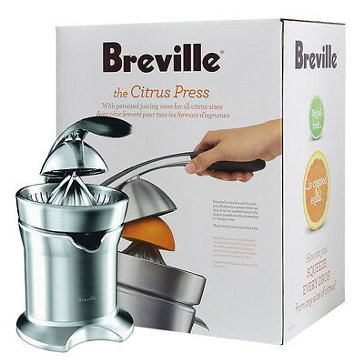 Breville 800CPXL Die-Cast Stainless-Steel Professional Motorized Citrus Press
