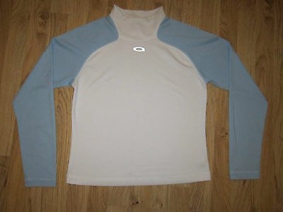 Oakley Womens Cycling Sports Top Long Sleeve Size M Blue/white