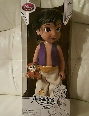 New Disney Store Aladdin  Animators  doll 38cm tall with abu  Age 3+