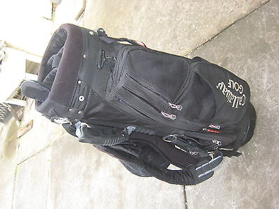 CALLAWAY HAWKEYE LIGHT WEIGHT GOLF STAND/ CART BAG - USED. Black. 3175