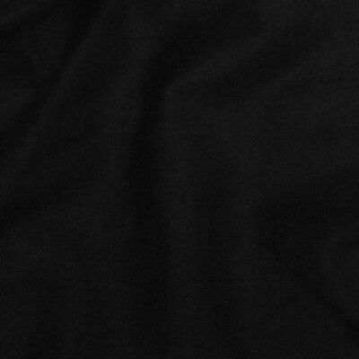 BLACK OUT FABRIC 16 ounce Black Commando Cloth  Duvetyne FR NFPA 701