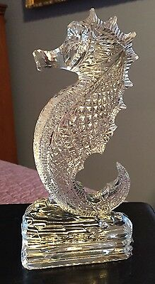 """Lovely Waterford Crystal Seahorse Figure - 7"""""""