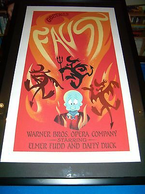 Warner Brother Animation Cel Faust - Rare - Signed - Limited Edition