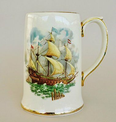 Vintage *SADLER made in ENGLAND* Large Stein with Galleon Decal