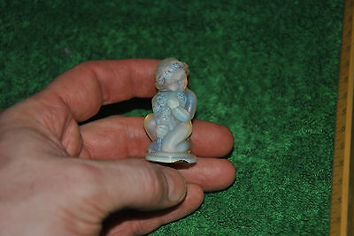 Vintage Sabino France Signed Opalescent Art Glass Cherub A67