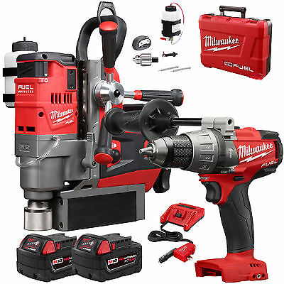 """M18FUEL 1-1/2"""" Lineman Magnetic Drill w/Hammer Dr +2 Batts Milwaukee 2788-22 New"""