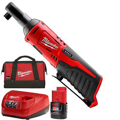 "12 Volt M12 Cordless 3/8"" Ratchet Kit Milwaukee 2457-21 New"