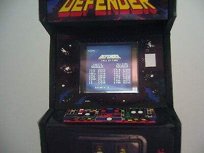 Defender Real LED Screen Miniature Arcade Machine Model - 1/12th Scale