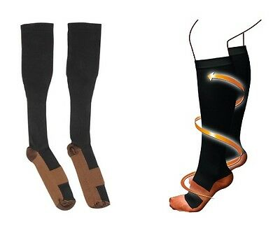 2 x Fashion Comfortable Relief Soft Unisex Anti-Fatigue Compression Socks-1pair