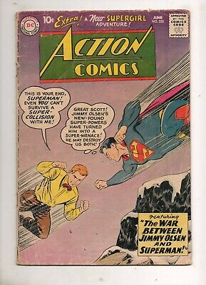 Action Comics #253 2ND APPEARANCE of SUPERGIRL! 1959 KEY! VG 4.0 TOUGH 1! 252