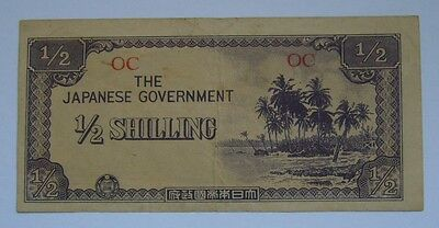 Oceania, The Japanese Government 1/2 Shilling, Japan Occupation - WWII
