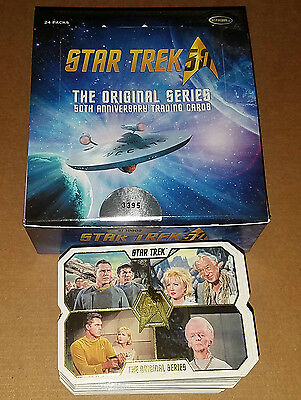 Star Trek TOS 50th Anniversary COMPLETE 80 Trading Card Set Die-Cut/Gold Foil