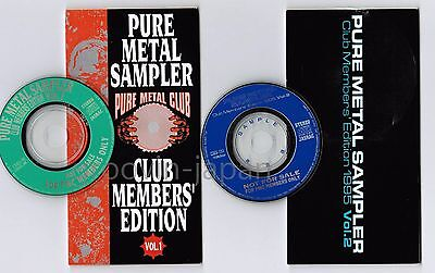 "Promo-Only! PURE METAL SAMPLER 1993 Vol.1& 1995 Vol.2 JAPAN 3"" CD SINGLES FreeSH"
