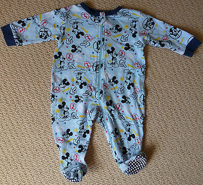 Disney Baby Licensed Mickey Mouse Boys Cotton Coverall Romper Onesie Size 000