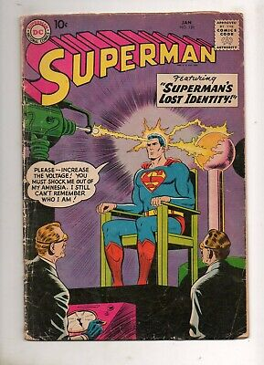 Superman #126 1ST Super-Amnesia! 1959 VG/VG- 4.0/3.5 DC Lois & Supes on a date!