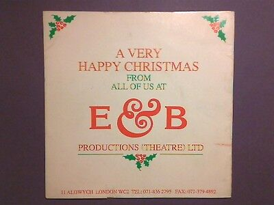 "E & B Productions (Theatre) Ltd - Christmas Song 1990 (7"" flexi) picture sleeve"
