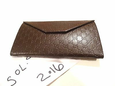 NEW Gucci Brown GG Guccissima Leather Flap Wallet Hard Case Coin Pouch 100% AUTH