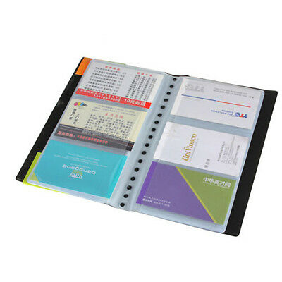 20 Pages 120 Sheets Business Name ID Credit Card Holder Book Case Organizer New