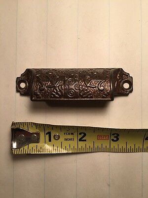Antique Eastlake Cast Iron Bin Pull