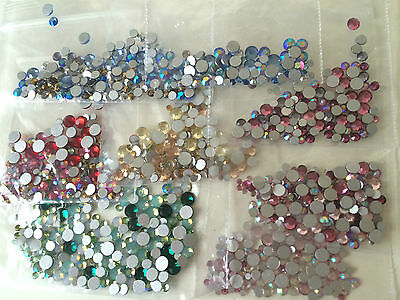 MIXED COLOURS & SIZE Swarovski Crystals Foiled Flatback 2058 Non Hot Fix