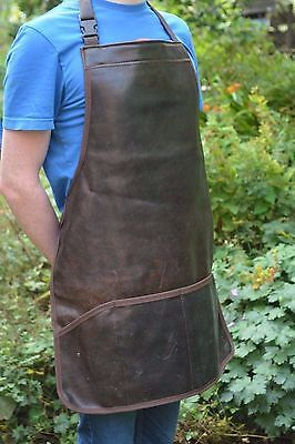 Full English Leather Apron, Ideal for Baristas, Gardening, BBQ, Craftwork, etc