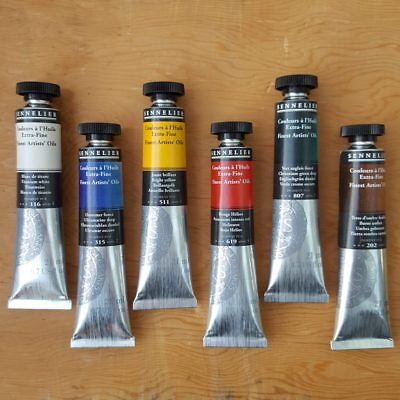 Sennelier Extra Fine Artists Oil Paint 6 21ml Tubes Set Made in France
