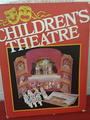Children's Theatre cardboard PLAYSET  RARE VINTAGE PEELEMAN Imagination Builder