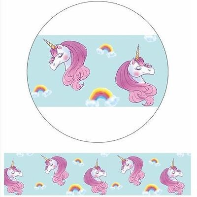 Washi Tape - Unicorns and Rainbows - Pretty Purple 15mm x 10m Sweet Cute