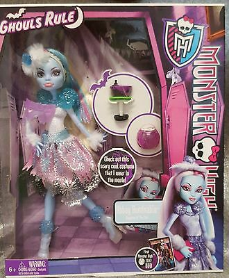 Monster High ~ Abbey Bominable Ghouls Rule Doll and Accessories