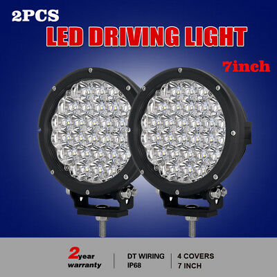 7inch 28800w Cree led Driving spotlights work lamp OffRoad Black round HID JEEP