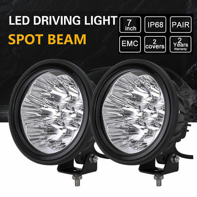 Pair 7inch 420w LED CREE Spotlights Work Driving LED light ROUND offroad 4x4 ATV