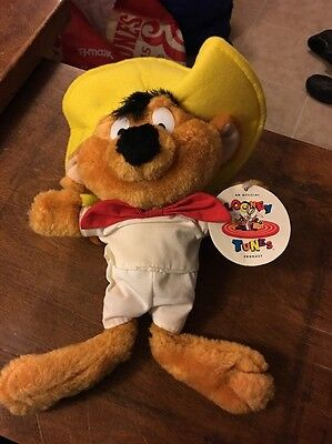 Looney Tunes Warner Bros Speedy Gonzales Plush Stuffed Toy- Mouse Ace NWT 1997