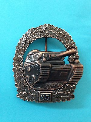 1957 Army Tank Badge For 25 Actions For Panzer Grenadier Formations Bronze