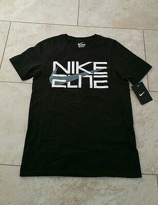 New  Nike Youth Boys Graphic Cotton Black Short Sleeve T-Shirt Top Small