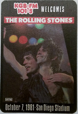 *ROLLING STONES* - promotional concert sticker - San Diego, CA - October 7, 1981