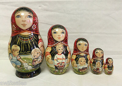 Russian Matryoshka Russian Wooden Nesting Dolls - 5 pieces #16