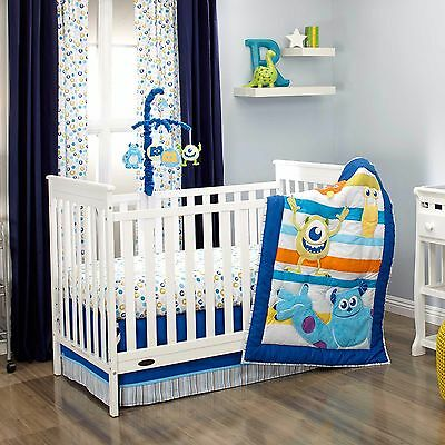 Disney  Monsters at Play 6 -Piece Crib Bedding Set W Bumper & Mobile Sulley