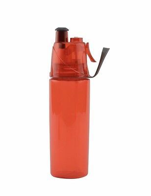 New O2COOL Classic Mist N Sip 20 oz. Red Sports Bottle