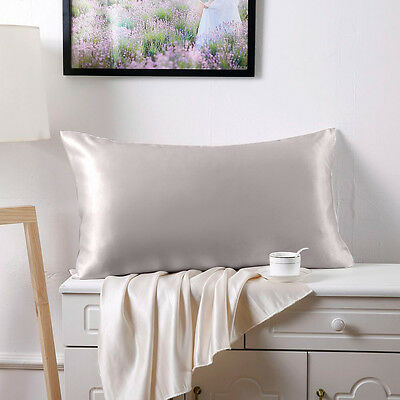 """100% Silk Charmeuse Pillowcase Mulberry Pillowcase Cover Fit  Standard 20*26"""""""