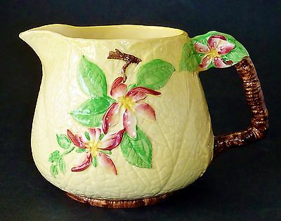 CARLTON WARE HAND PAINTED APPLE BLOSSOM design EMBOSSED yellow JUG PITCHER