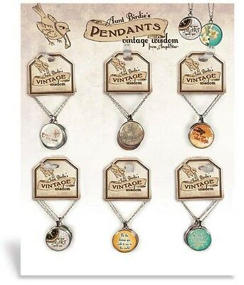 AngelStar Vintage Wisdom Pendants 24pc Assortment & Display