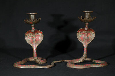Pair of Cobra Candlestick Holders