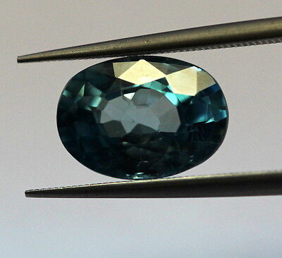 3.12 Ct Natural Blue Zircon Top Loose Gem Blue Color Oval Cut Untreated African