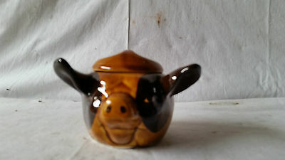 Studio Szeiler England Pork Dripping Face Pot Pig Dish.
