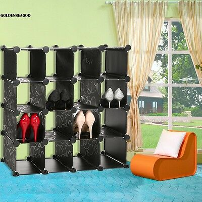 16 cube diy kleiderschrank garderobe steckregal. Black Bedroom Furniture Sets. Home Design Ideas