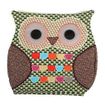 Green Patchwork Owl Tea Cosy.  Colourful, vintage, retro, bird, 1960s, floral