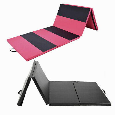 6FT/10FT Folding Gymnastics Tumble Mat Yoga Exercise Fitness Pilates Gym Colors